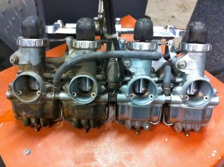 carburettors before and after cleaning